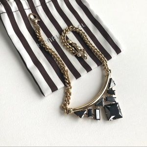 Henri Bendel Gunmetal & Gold Necklace